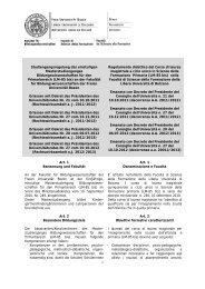 Regolamento didattico - Freie Universität Bozen