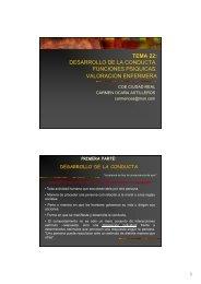 TEMA 22: DESARROLLO DE LA CONDUCTA. FUNCIONES ...
