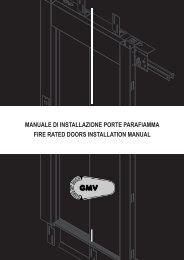 manuale di installazione porte parafiamma fire rated doors ... - G.m.v.