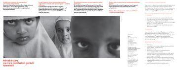 Info med 05 2010 Allegato Opuscolo Mutilazioni genitali femminili