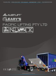 Pacific Lifting - O'Learys Material Handling Services