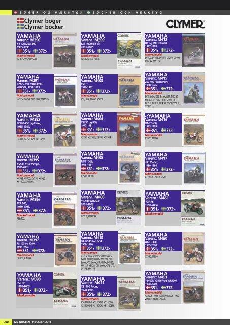 Clymer bøger Clymer böcker - Masi-Import