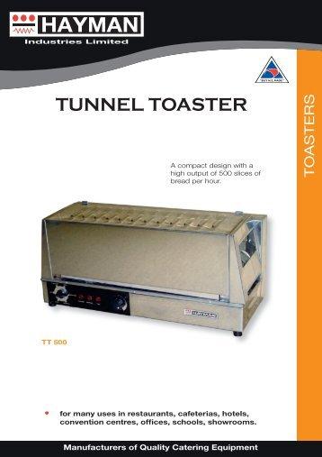TT500 tunnel toaster - flyer - Hayman
