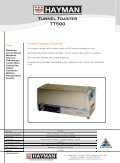 TT500 tunnel toaster - flyer - Hayman - Page 2