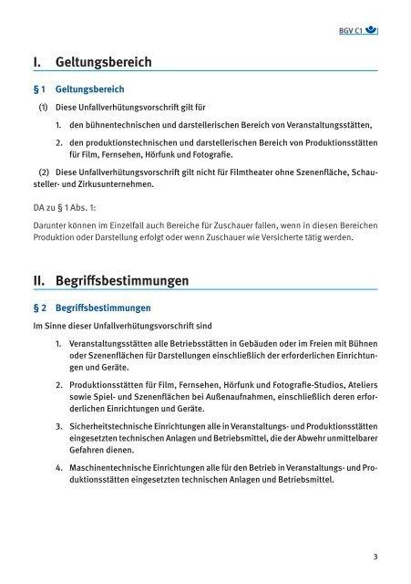 Veranstaltungs- und Produktionsstätten für szenische ... - VBG
