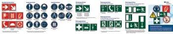 Sicherheitszeichen Brandschutzzeichen Gebotszeichen ... - VBG