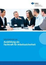 Ausbildung als Fachkraft für Arbeitssicherheit - VBG