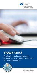 PRAXIS-CHECK Erfolgreich, sicher und gesund arbeiten - VBG