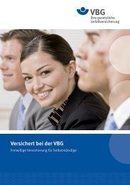Freiwillige Versicherung für Selbstständige - VBG