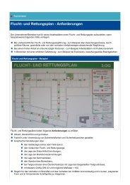 Flucht- und Rettungsplan - Anforderungen - VBG