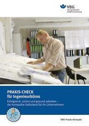 PRAXIS-CHECK für Ingenieurbüros - VBG