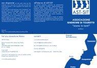 La brochure - AST-SIT ONLUS / Associazione Sindrome di Tourette ...
