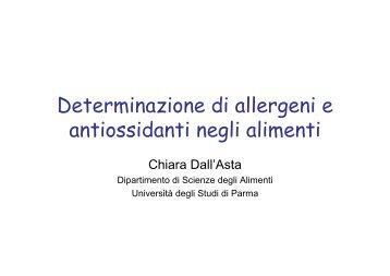 Determinazione di allergeni e antiossidanti negli alimenti - Aita