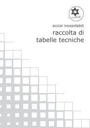 Raccolta Tabelle Tecniche - Centro Inox