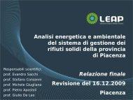LEAP-Analisi energetica ed ambientale del sistema di ... - Tecnoborgo