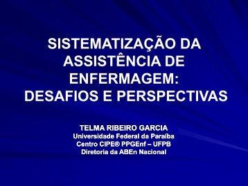 Sistematização da Assistência de Enfermagem - ABEn-SC