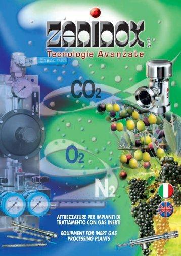 attrezzature per impianti di trattamento con gas inerti ... - Zaninox