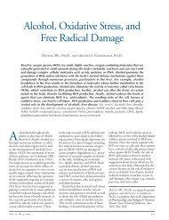 Alcohol, Oxidative Stress, and Free Radical Damage
