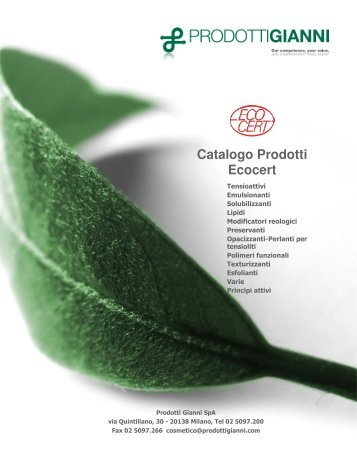 Catalogo Prodotti Ecocert - Cosmesi.it