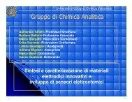 Università di Bologna Facoltà di Chimica Industriale