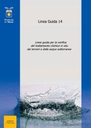 LINEE GUIDA – PUMP AND TREAT - Provincia di Milano