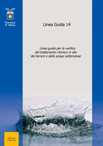 LINEE GUIDA – PUMP AND TREAT - Provincia di Milano