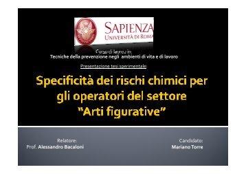 Rischio chimico - Accademia di Belle Arti di Roma