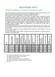 Risultati 1a degustazione 2011 - Centro Vitivinicolo Provinciale