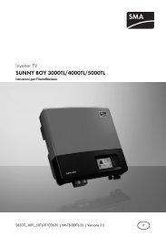 SUNNY BOY 3000TL/4000TL/5000TL - SMA Solar Technology AG