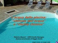 chimica dell'acqua - Azienda USL di Reggio Emilia