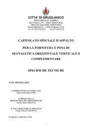 capitolato tecnico gara 06/09/l - Comune di Grugliasco