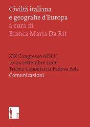 Copertina Atti Trieste Comunicazioni - Sinestesie