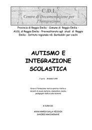 Autismo e integrazione scolastica - Comune di Reggio Emilia