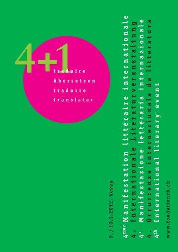 4+1 Traduire - ch Stiftung für eidgenössische Zusammenarbeit