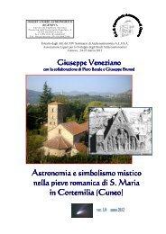 Astronomia e simbolismo mistico nella pieve romanica di S ... - Alssa
