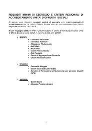 Requisiti e criteri regionali di accreditamento unita - Regione ...