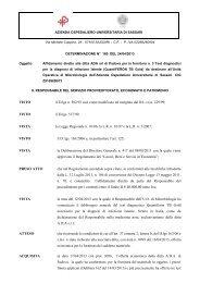 Determinazione del 24 Aprile, n. 180 [file.pdf] - Aou Sassari