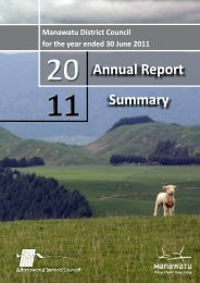 2010-11 Annual Report Summary - Manawatu District Council