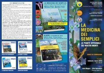 la medicina dei semplici - Club Alpino Italiano – Comitato Scientifico ...