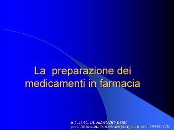La preparazione dei medicamenti in Famacia - Federfarma Napoli