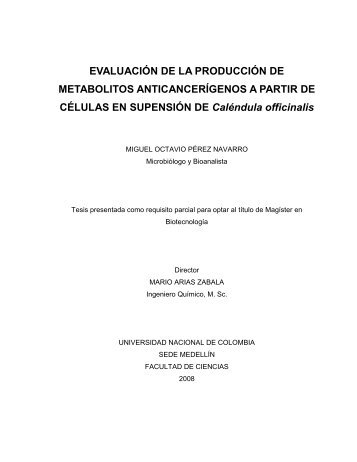 EVALUACIÓN DE LA PRODUCCIÓN DE METABOLITOS ...