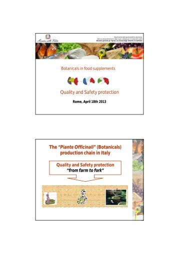 """Quality and Safety protection The """"Piante Officinali"""" (Botanicals ..."""