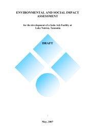 environmental and social impact assessment draft - Tanzania ...