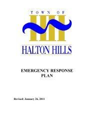 EMERGENCY RESPONSE PLAN - Halton Hills