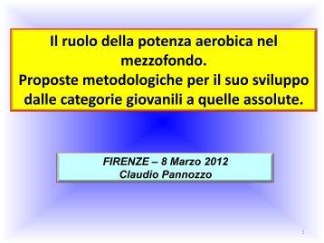 La Potenza Aerobica Claudio Pannozzo