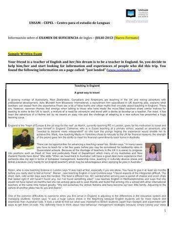 Centro para el estudio de Lenguas Información sobre el ... - unsam