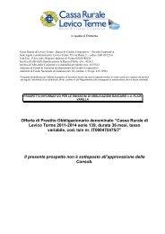 """Offerta di Prestito Obbligazionario denominato """"Cassa Rurale di ..."""