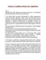COSA CAMBIA PER GLI ORDINI - Consulenti del Lavoro