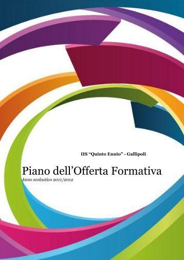 """Piano dell'Offerta Formativa - """"Q. Ennio"""" - Gallipoli"""
