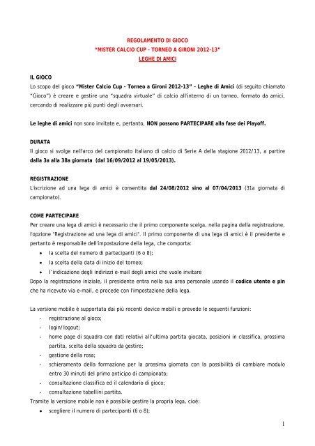 SCARICA CALENDARIO CALCIO SERIE A 2012-13